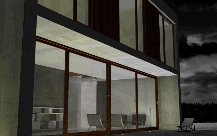 Terrasse vor Wohn-Essbereich