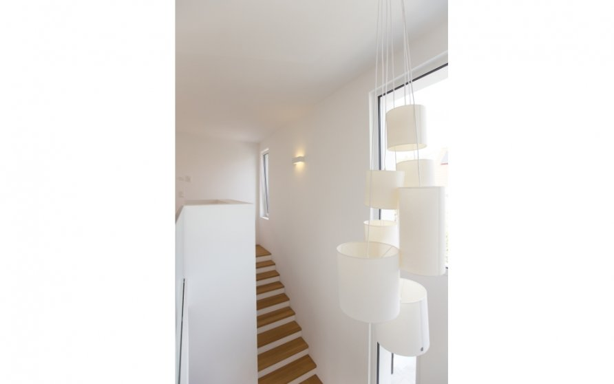 Blick vom Obergeschoss Richtung Treppe