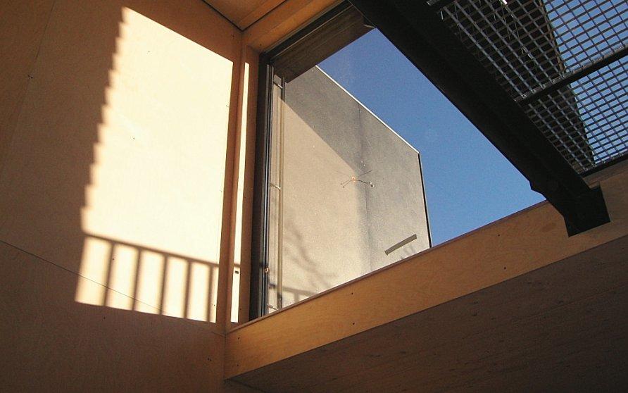 Blick vom Wohnzimmer Richtung Dachterrasse