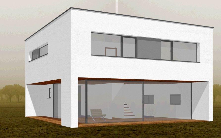 """Studie Einfamilienhaus """"b-square"""""""