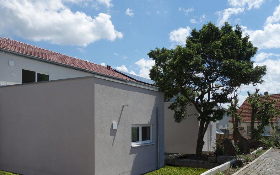 Blickgeschützte Innenhöfe zwischen den einzelnen Hauseinheiten