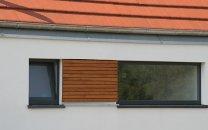 Neubau eines Einfamilienhauses - Fassadendetail