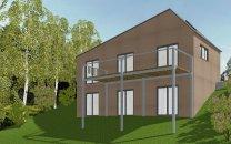 Neubau eines Einfamilienhauses in Höchberg - Nordwestansicht