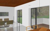 Blick vom Essbereich ins Wohnzimmer